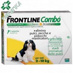 Frontline Combo Cani Piccoli 2-10kg 3x0,67mL Farmamica