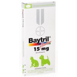 Baytril Flavour 15mg 10 Tablets