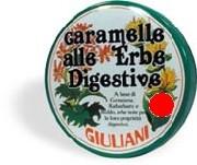 Caramelle alle Erbe Digestive Senza Zucchero Giuliani 60g