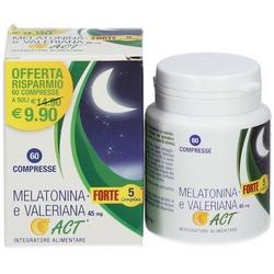 Melatonina Forte 5 Complex e Valeriana ACT 45mg Compresse 11,4g