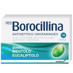Neoborocillina Antiseptic Oropharyngeal Menthol Eucalyptol Pads
