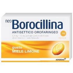 Neoborocillina Antiseptic Oropharyngeal Honey Lemon Pads
