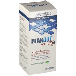 PlakOut Active 020 Chlorhexidine Shock Treatment Mouthwash 200mL