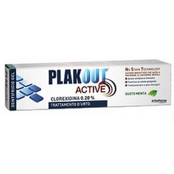 Plak Out Active 020 Chlorhexidine Shock Treatment Toothpaste Gel 75mL