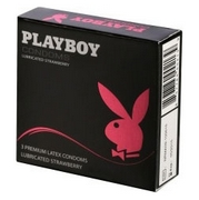 Playboy Condoms Premium 3 Lubricated Strawberry