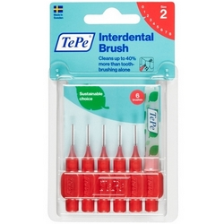 TePe Interdental Brush 2 Red 6Pieces