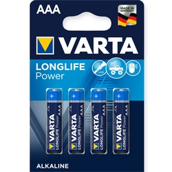 VARTA High Energy Ministilo Batteries 4xAAA