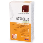 MaxColor Vegetal Dyes Hair 21 Auburn Blond 140mL - Product page: https://www.farmamica.com/store/dettview_l2.php?id=2276