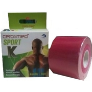 Ceroxmed Sport Kinetic-Tape Fuchsia 5x5 - Product page: https://www.farmamica.com/store/dettview_l2.php?id=8826