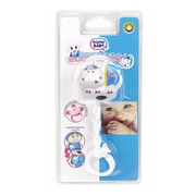 Mister Baby Hippo Dummy-Holder White - Product page: https://www.farmamica.com/store/dettview_l2.php?id=9853